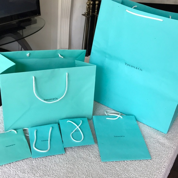 48caed73cc 7 Tiffany and Co paper bags BUNDLE. M_5aff21479cc7efa0b9446b06